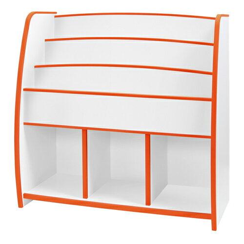 日本直輸/書櫃/收納櫃 TZUMii 小木偶多層收納櫃-橘白