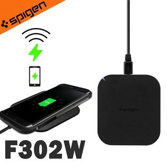 【Qi無線充電】SGP韓國SpigenEssentialF302W超輕薄無線充電板無線充電器LED指示燈適用iPhone8iPhoneXS9