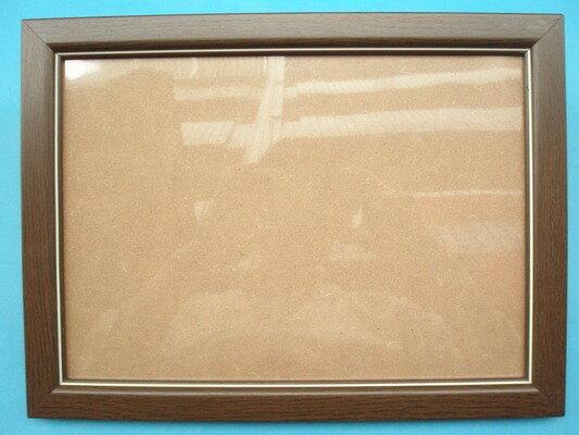 A4證書框 相框 A4獎狀框(高級原木條.咖啡色)/一個入{促180}29.7cm x 21cm