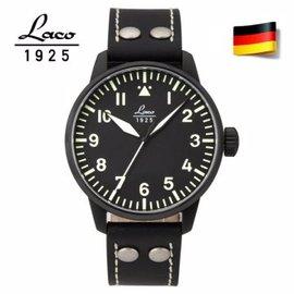 德國原裝進口 Laco 朗坤 861759N 德國空軍夜光防水皮帶自動機械錶