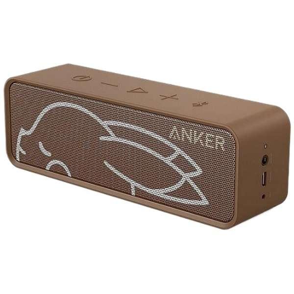 現貨!日本必買 免運/代購-ANKER SoundCore藍牙喇叭揚聲器/A3102NA1/咖啡色