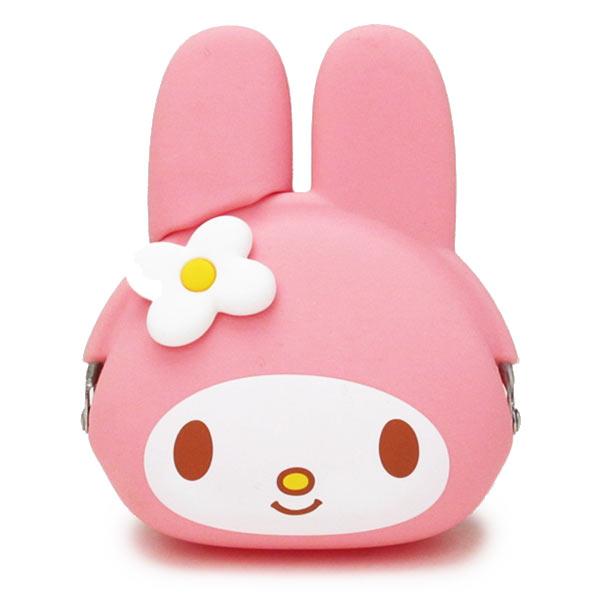 【真愛日本】14072800012 矽膠零錢包-MM頭形粉 三麗鷗家族 Melody 美樂蒂 小錢包 矽膠錢包