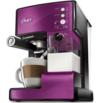 【送白瓷咖啡杯組】OSTER 美國 第二代奶泡大師 義式咖啡機 BVSTEM6602P 靛紫 PRO升級版