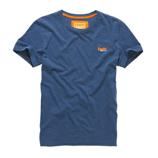 美國百分百【Superdry】極度乾燥 T恤 上衣 T-shirt 短袖 短T 經典 藏藍色 logo 素面 S M L XXL號 F235