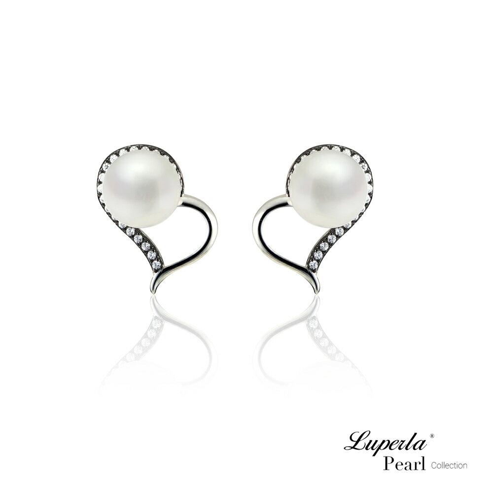 大東山珠寶 唯愛珍心 925純銀珍珠耳環 純白色 1