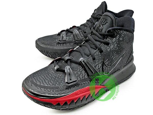 2020-2021 Kyrie Irving 最新代言鞋款 NIKE KYRIE 7 VII EP PRE HEAT 黑紅 前掌 ZOOM TURBO AIR 氣墊 (CQ9327-001) !