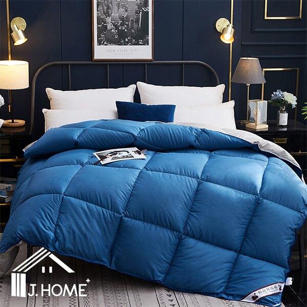 冬天保暖被 單人/雙人 白鵝羽絨被【亮藍色】極致柔軟/床包  喬森居家