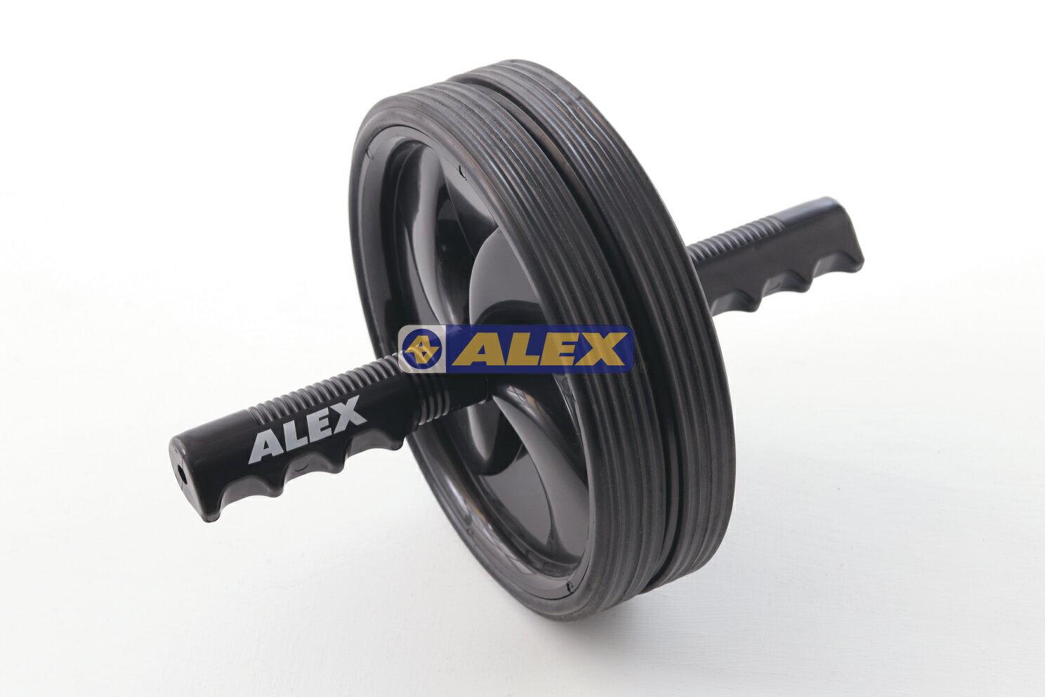 騎跑泳者-ALEX B-15 運動滾輪 材質 鐵材、外包橡膠、P.P 規格 握把長:25CM 輪直徑:18CM
