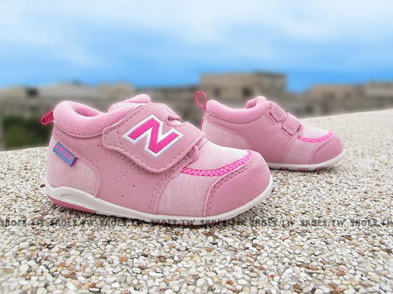 Shoestw【FS123COI】NEW BALANCE 574 童鞋 運動鞋 小童 粉紅 彩字 中筒