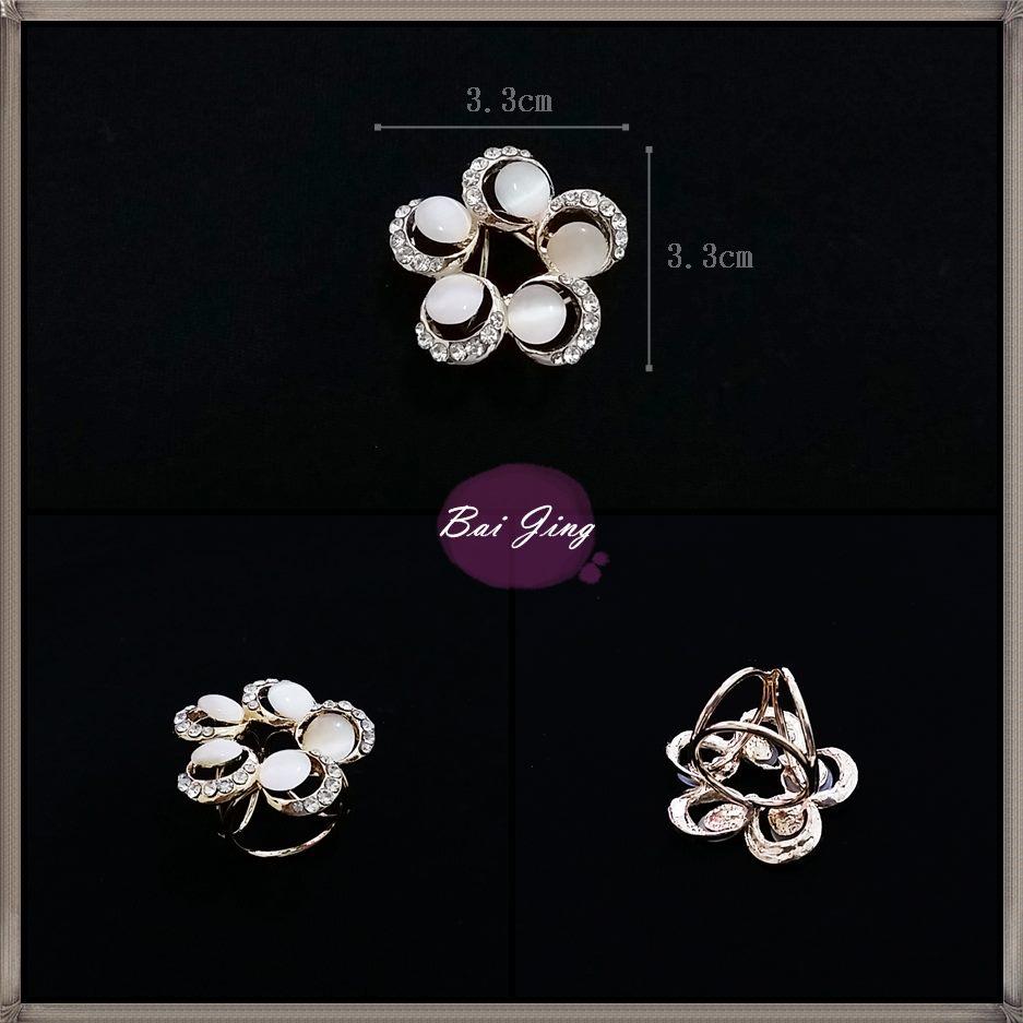 1650718【寶石花朵】絲巾扣