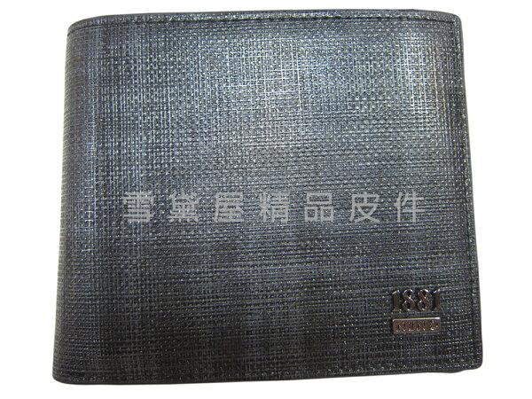 雪黛屋精品皮件:~雪黛屋~18NINO81短夾專櫃紳士款100%進口牛皮革材質二折型主袋標準尺寸固定型證件夾BNI07726700