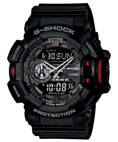國外代購 CASIO G-SHOCK GA-400-1A 雙顯大錶面 運動防水手錶腕錶電子錶男女錶 純黑