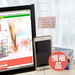 ♚MY COLOR♚ 惜福品 螢幕手機支架壓克力貼 透明留言板 提醒 名片 便條紙 通知 備忘錄【C15-T41】
