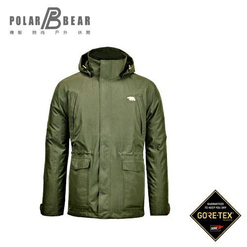 【POLAR BEAR】男GORE-TEX二合一羽絨外套-18J37