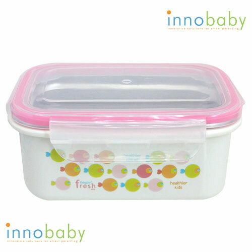 美國 Innobaby 不鏽鋼雙層保鮮餐盒 450ml 粉色小魚 便當盒 *夏日微風*