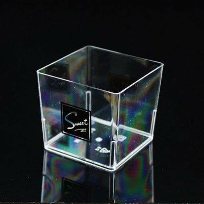 【嚴選SHOP】10入附蓋120cc小方杯【G5550】透明杯 慕斯杯 奶酪杯 提拉米蘇 布蕾優格 塑膠容器 甜點杯