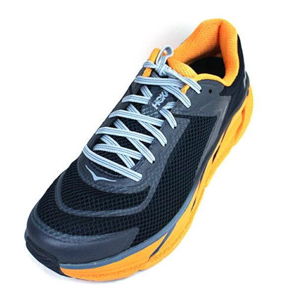 HOKAONEONENAPALI男鞋路跑鞋(黑黃)HO1091609BIAG厚底慢跑鞋【胖媛的店】