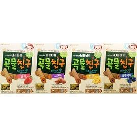 韓國 艾唯倪 IVENET 穀物棒棒 40g (藍莓+草莓+番薯+起司乳酪-超值4入組)【紫貝殼】