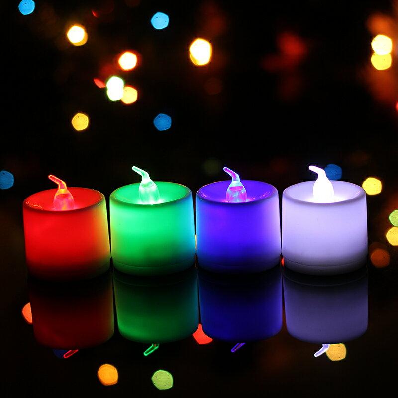 蠟燭燈 電子蠟燭 LED電子蠟燭燈浪漫表白求婚創意布置用品生日表白蠟燭無煙安全『CM43579』