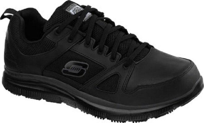 [陽光樂活] Skechers (男) 工作鞋系列Work Relaxed Fit Flex Slip Resistant-77040BLK 防觸電
