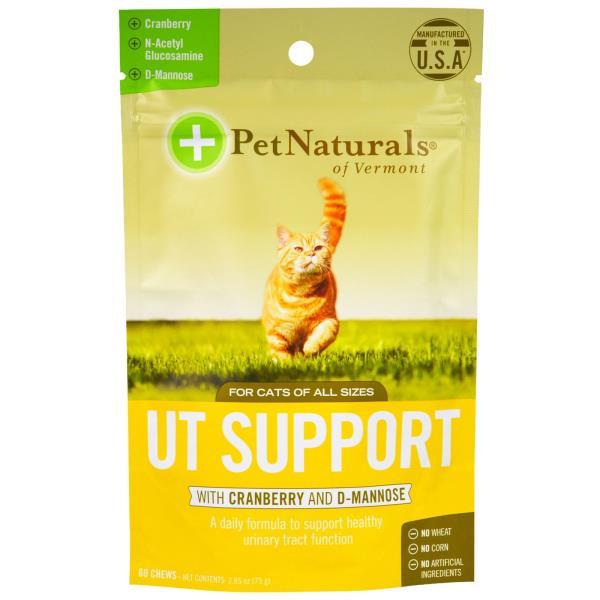 美國PetNaturals寶天然排尿好好UTSupport貓咪嚼錠,貓咪保健,60顆