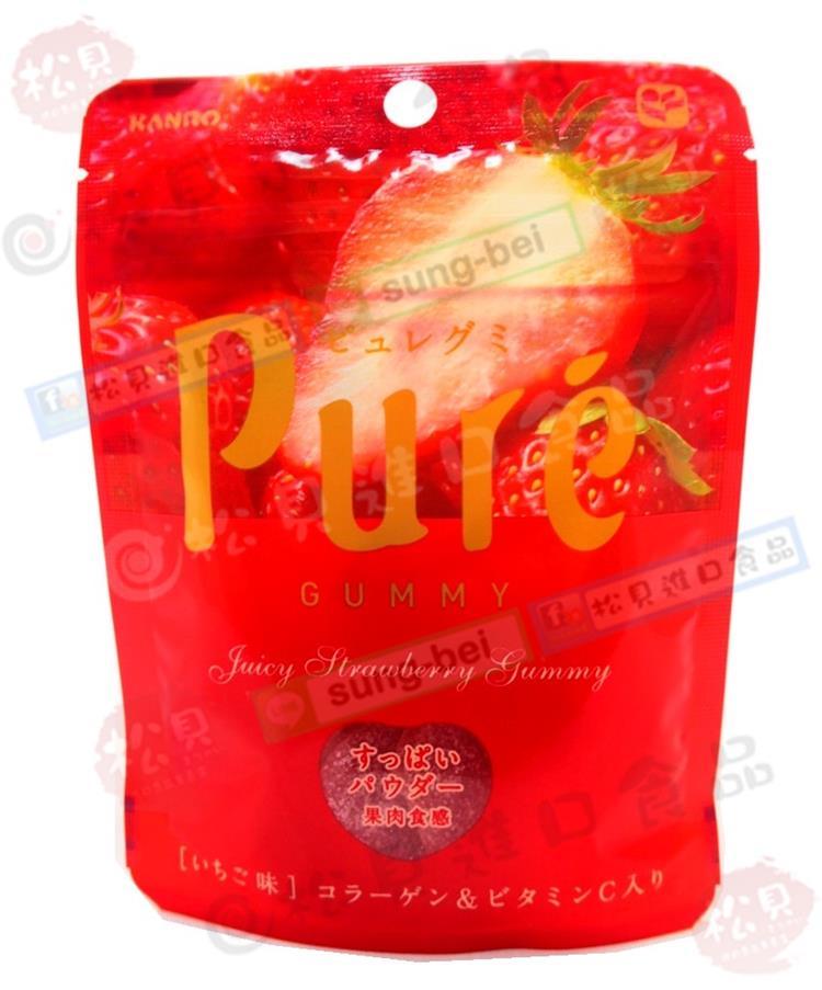 《松貝》甘樂Pure幸福草莓軟糖45g【4901351077764】