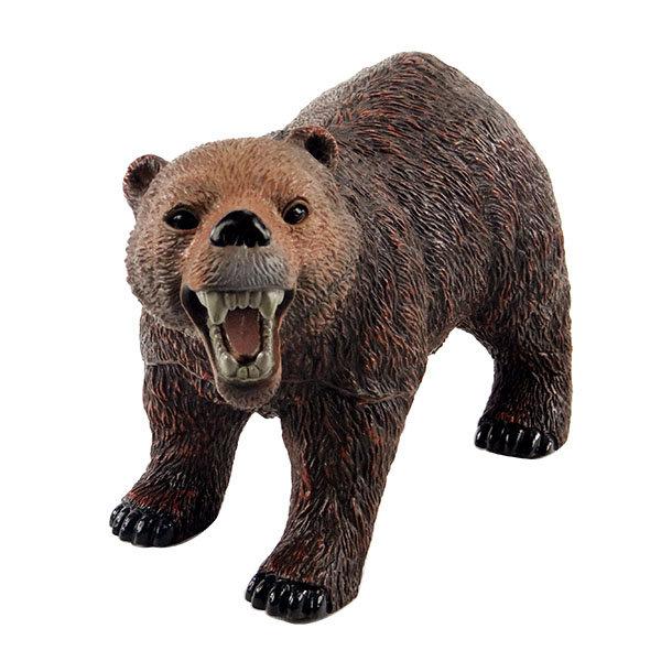 【888便利購】仿真大棕熊模型(大隻)(有音效軟材質)(ST安全塑料)