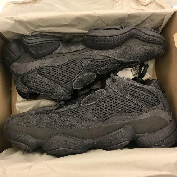 現貨BEETLEADIDASYEEZY500UTILITYBLACK全黑麂皮肯爺老爹鞋F36640