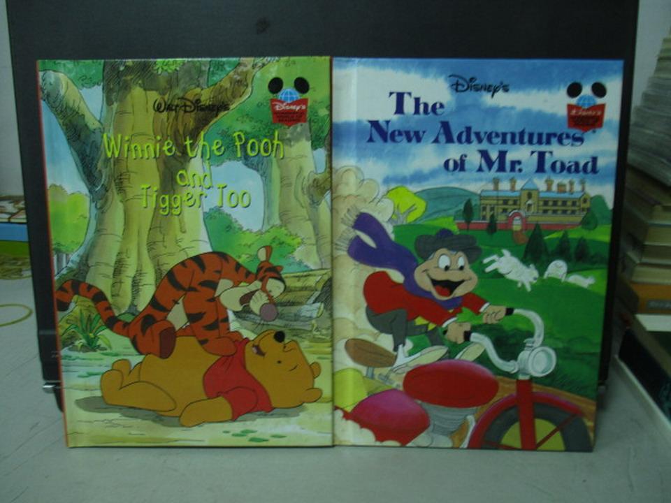 【書寶二手書T7/少年童書_NMQ】迪士尼-Winnie the pooh and tigger too等_共2本合售