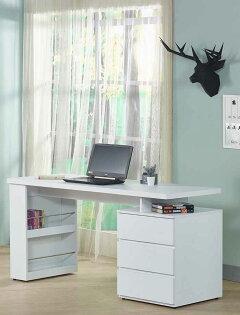 【尚品傢俱】JF-371-3約翰5尺白色電腦書桌