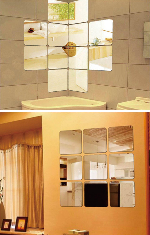 百寶袋【6片入】鏡貼 全身鏡 方塊鏡 牆面鏡 站立鏡 鏡面貼自拍鏡 牆鏡 穿衣鏡 連身鏡【BE043】 7