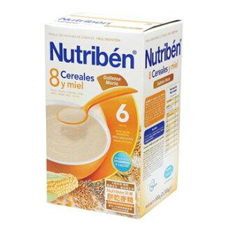 【全系列買3送1(贈品以低價為主)】【安琪兒】西班牙【Nutriben 貝康】8種穀類餅乾麥精600g