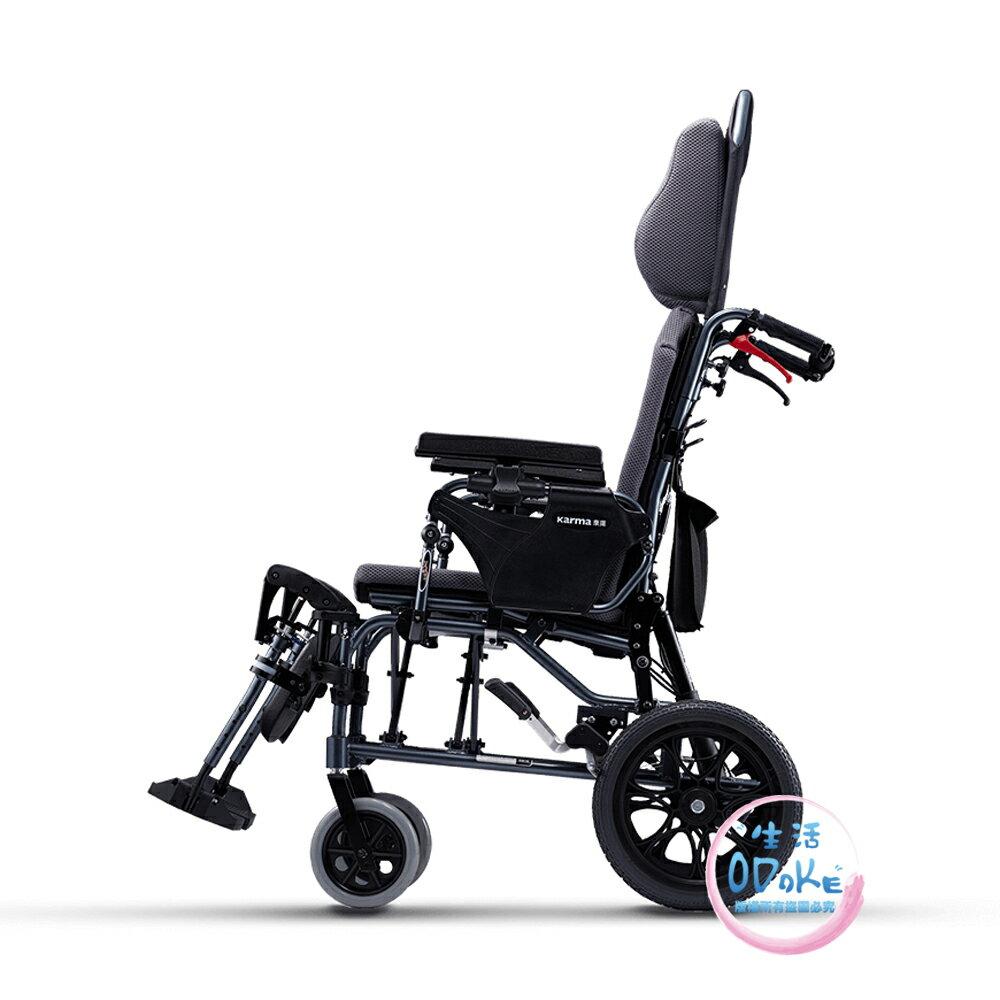 【好禮】Karma 康揚  專利防潛滑躺臥骨科型輪椅 潛隨挺502 KM-5000.2 照護款 高背 輪椅 手動輪椅 【生活ODOKE】