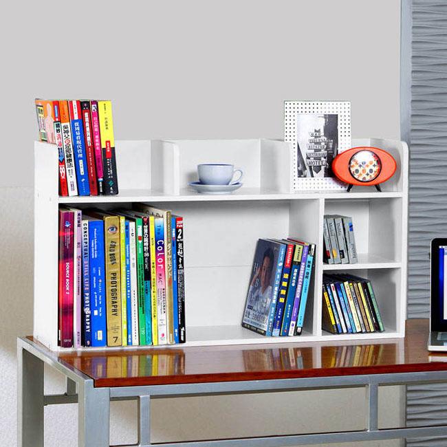書架/書擋/收納 TZUMii 多功能桌上書架-白色