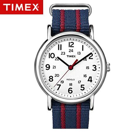 TIMEX天美時腕錶 復刻冷光Weekender系列藍紅帆布手錶 柒彩年代~NE1675~