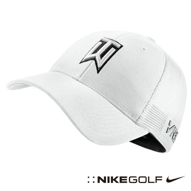 Nike 老虎伍茲素面運動網帽-白