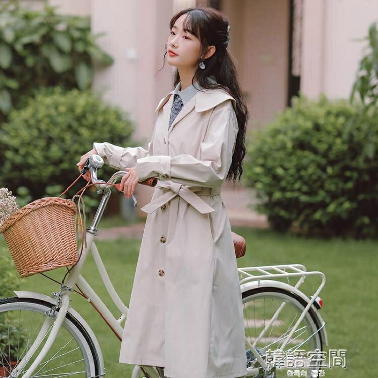 風衣 溫柔設計感風衣外套女裝秋季2020年新款爆款小個子顯高大衣中長款