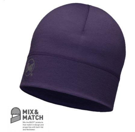 【【蘋果戶外】】BF113013-622西班牙BUFF深莓紫美麗諾羊毛保暖帽防寒帽100%MERINO