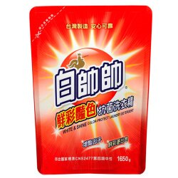 白帥帥鮮彩抗菌洗衣精補充包1.65L【愛買】