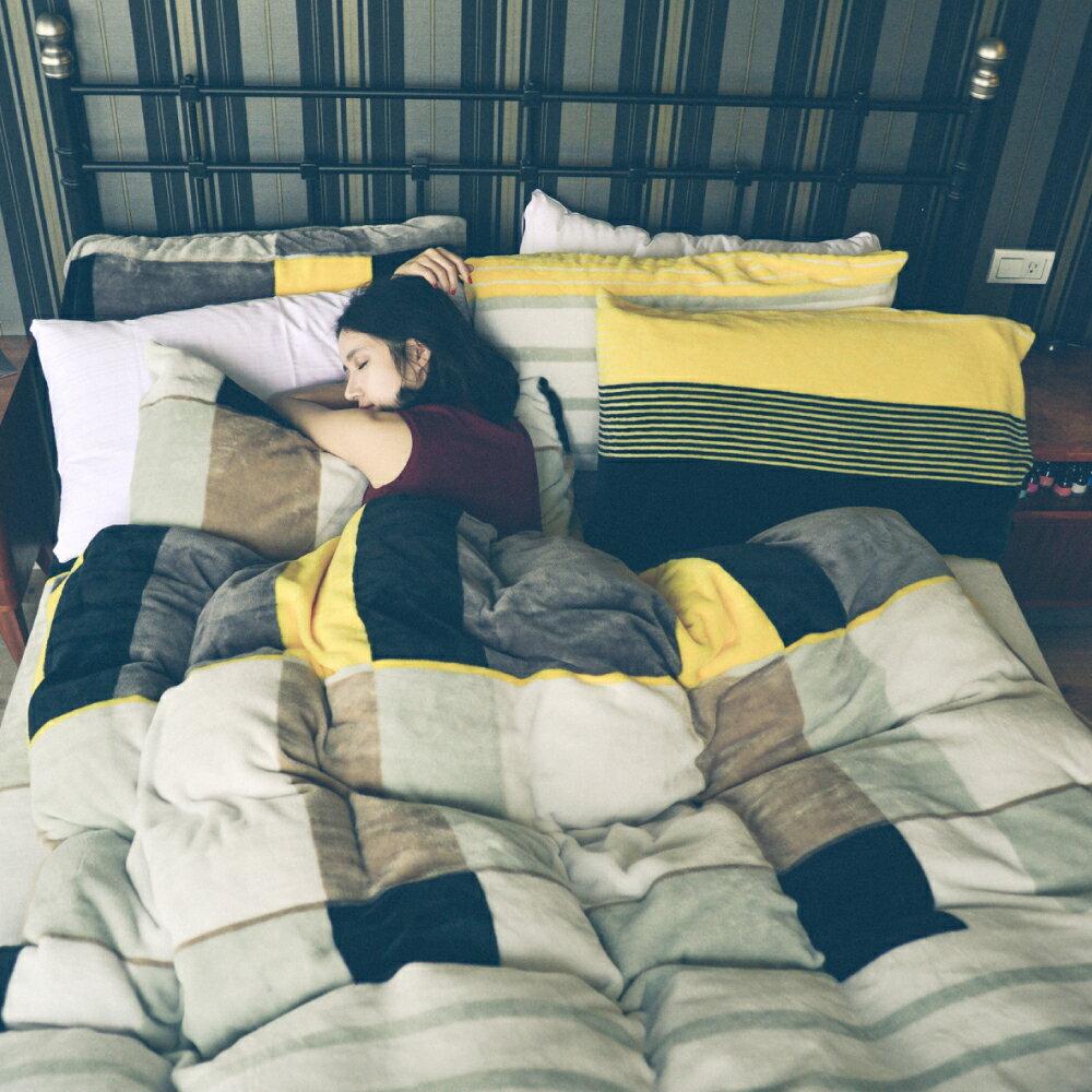 雙人法蘭絨被套床包組