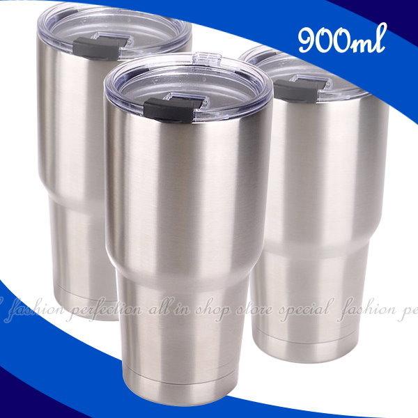 冰霸杯900ML保溫瓶304不鏽鋼保溫杯保冰杯酷冰杯【DK430】◎123便利屋◎
