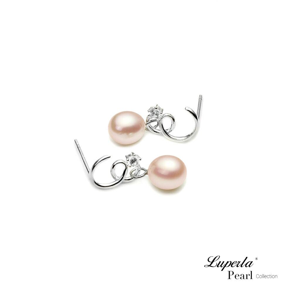 大東山珠寶 TRINITY 925純銀垂墜珍珠耳環 極致粉色 3