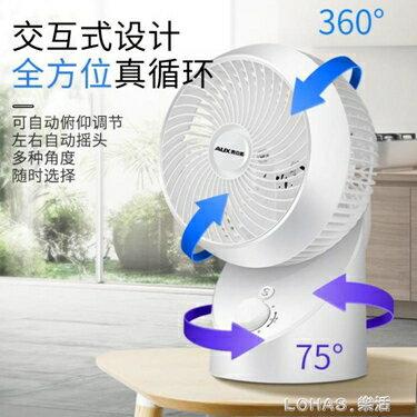 空氣循環扇家用電風扇渦輪對流扇學生靜音遙控360搖頭扇 清涼一夏特價