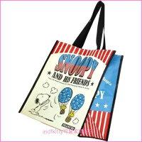 史努比Snoopy商品推薦,史努比包包/後背包推薦到asdfkitty可愛家☆SNOOPY史努比熱氣球輕量購物袋/手提袋/肩背包/收納袋/置物袋-日本正版商品