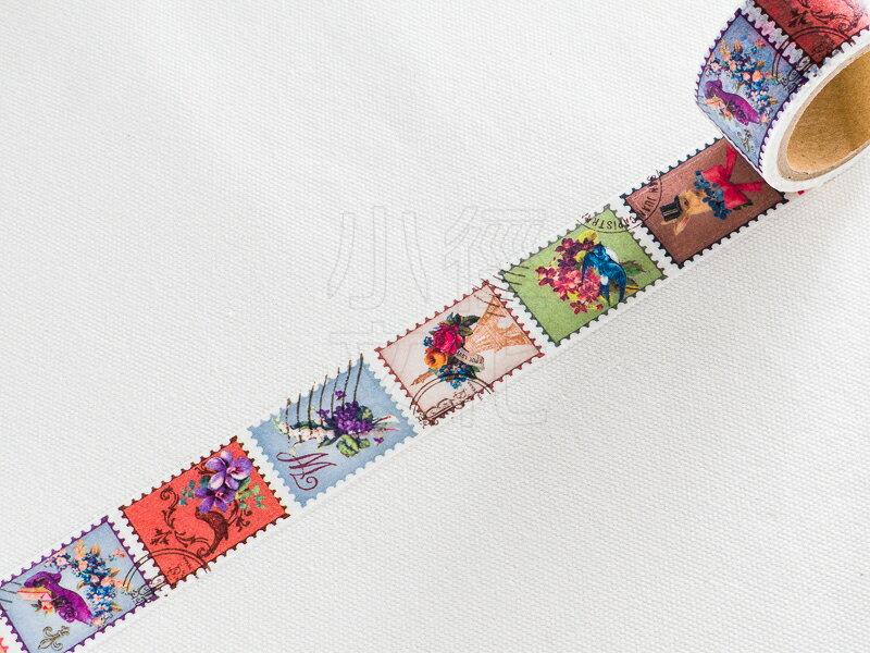 *小徑文化*日本進口紙膠帶 Tokyo Antique 系列 - 花朵郵票 ( MA-25H )