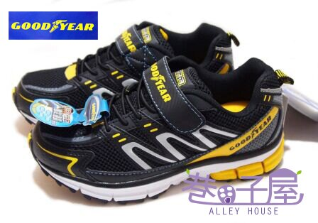 【巷子屋】GOODYEAR固特異 疾速先鋒-男童輕量運動慢跑鞋 [23014] 黃 優惠價$398+免運