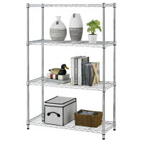 4-Tier Adjustable Steel Wire Metal Shelving Rack - 36
