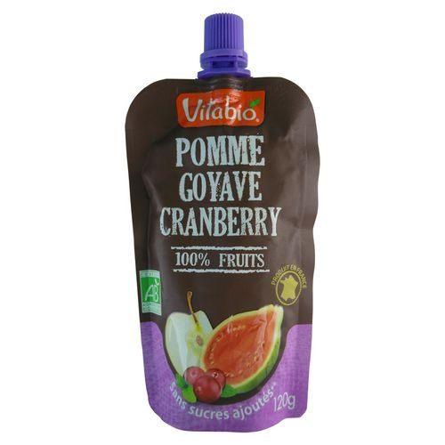 法國 倍優 Vitabio 有機優鮮果PLUS-蘋果、紅心芭樂 (有機水果泥 即食包)