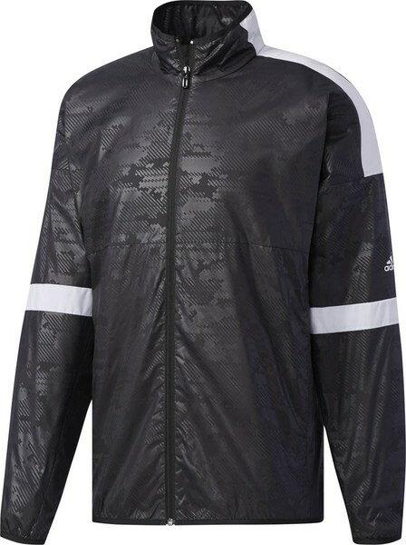 [尋寶趣] Adidas 黑色 風衣外套 運動外套 BS0157