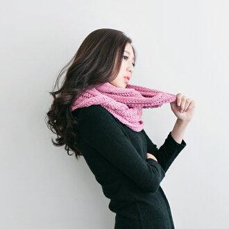 針織圍巾 圍脖 大麻花圍脖 粗針織毛衣毛巾圍巾 百搭 (預購)【SV5207】快樂生活網